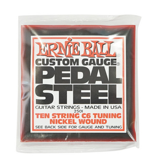 ERNIE BALL 2501 Pedal Steel 10-String C6 Tuning Nickel Wound 12-66 Gauge ペダルスチールギター弦