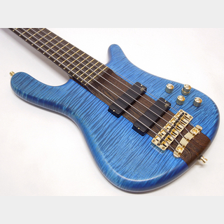 Warwick Streamer Stage I 5st Broad Neck / Ocean Blue Transparent Satin