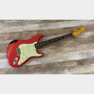 Fender Custom Shop Master Built 1963 Stratocaster Relic Fiesta Red over 3-Color Sunburst Built by Carlos Lopez