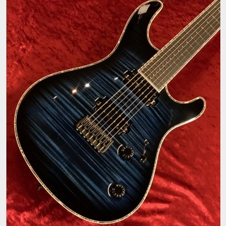MAYONES Regius 7K -Trans Dirty Blue Burst Gloss-【Custom Order Model】 【分割48回まで無金利】