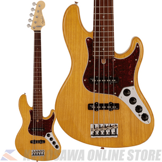 Fender Made in Japan Limited Deluxe Jazz Bass V, Rosewood Fingerboard, Vintage Natural (ご予約受付中)