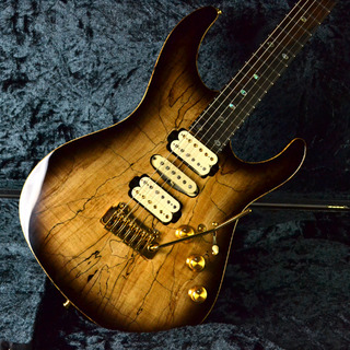 FREEDOM CUSTOM GUITAR RESEARCH Hydra 2-Point 24F Figured Spalted Maple/Black Korina/ Brazillian Rosewood/Ebony