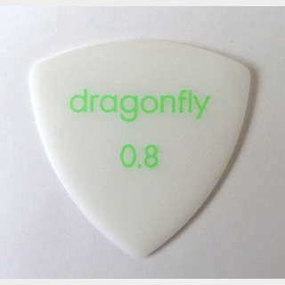 dragonfly PICK TR 0.8 WHITE ギターピック×10枚