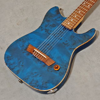 Crews Maniac Sound Six Nylon (Burl Poplar Top/Blue) エレクトリック・ガットギター