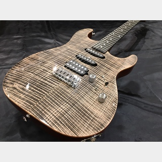 Keipro Guitar Works 【アウトレット品】KS Deluxe Flame Maple Top SSH TransBlack/Ebony