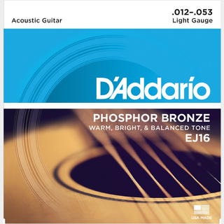 D'Addario Phosphor Bronze Wound Extra Light EJ16