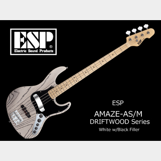 ESP AMAZE-AS/M DRIFTWOOD Series (White w/Black Filler)