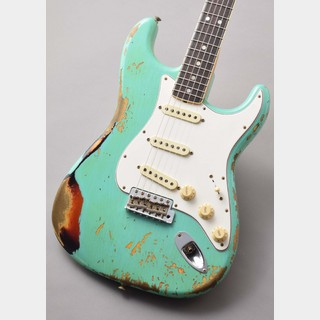 Fender Custom Shop 2019 Limited Edition 1967 Stratocaster Heavy Relic Aged Surf Green 3 Tone Sunburst ≒3.60kg