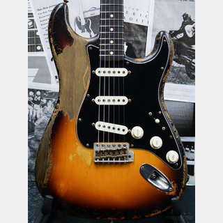 Fender Custom Shop MBS 1963 Stratocaster Heavy Relic -Faded 3 Color Sunburst- by Dale Wilson