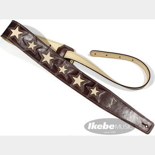 "moody Leather-Leather 6 Cream Star 2.5"" long [Brown/Cream]"