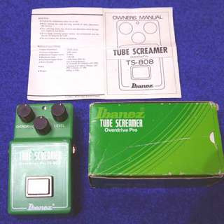 Ibanez TS-808 TUBE SCREAMER Overdrive Pro ( RC4558P MALAYSIA Chip) 1982~83年製です