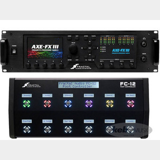 FRACTAL AUDIO SYSTEMS Axe-Fx III Mark II / FC-12 Foot Controller SET 【接続XLRケーブル&3Uラックケースプレゼント!】