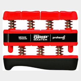 PROHANDS Grip Master Hand Exerciser GM-14002 Medium Tension Red 【WEBSHOP】