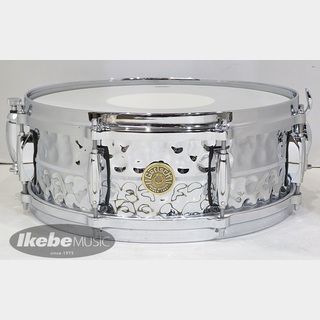 "Gretsch G-4160HB [USA Snare Drums / G-4000 METAL Series Hammered Chrome Over Brass 14"" x 5""]"