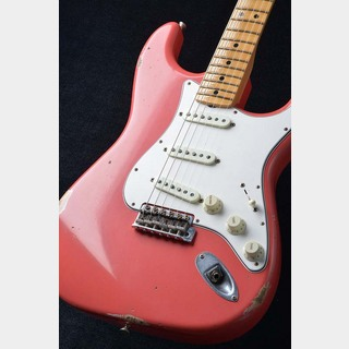Fender Custom Shop 2018 Time Machine 1968 Stratocaster Relic ~ Super Faded Aged Fiesta Red ~ ≒3.56kg S/N: CZ537607