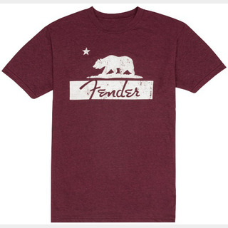 Fender Burgundy Bear Unisex T-Shirt, M【御茶ノ水本店】