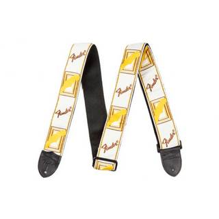"Fender 2"" Monogrammed Strap White/Brown/Yellow ギターストラップ"