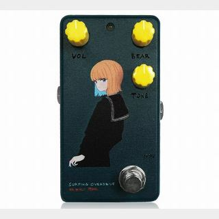 "Animals Pedal Custom Illustrated 001 Surfing Bear Overdrive ""黒セーラー"" Navy"