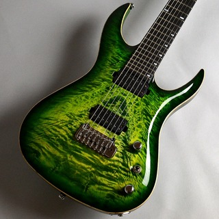 Acacia Guitars Hades 7 Tremolo Quilted Maple Top / Green burst エレキギター