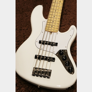 Fender Made in Japan Limited Deluxe Jazz Bass V Maple Fingerboard  -Arctic White-【New】