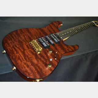 SCHECTER NV-DX-24-MH-VTR Quilted Bubinga Gloss Natural/Ebony