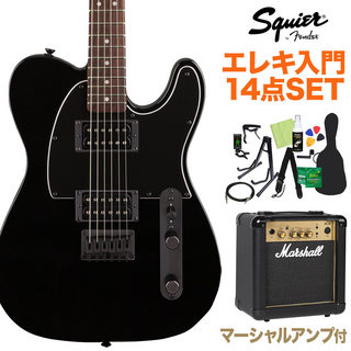 Squier by Fender FSR AFFINITY TL HH BLK エレキ14点セット【マーシャルアンプ付】島村楽器限定
