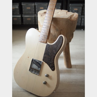 "MJT + Warmoth Custom ""Prototype Snakehead TL"" - White Blond"