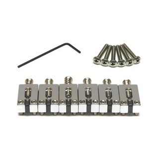 "Graph Tech PG-8000-FC STRING SAVER CLASSICS FOR STRAT & TELE 2 3/16"" SPACING CHROME ブリッジサドル"