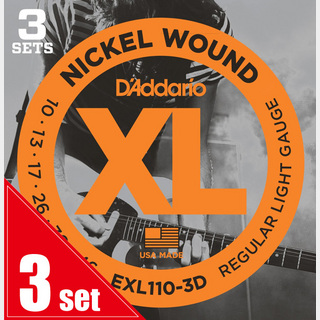 D'Addario EXL110-3D【3SET PACK】10-46エレキ弦【横浜店】