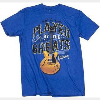 Gibson Played By The Greats Tee (Royal Blue) Large GA-PBRMLG