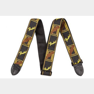 FenderMonogram Strap Black/Yellow/Brown 【心斎橋店】