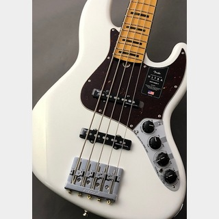 Fender【48回無金利】USA American Ultra Jazz Bass V -Arctic Pearl/Maple- 【NEW】