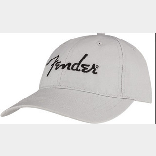 Fender Embroidered Logo Dad Hat, Silver【御茶ノ水本店】