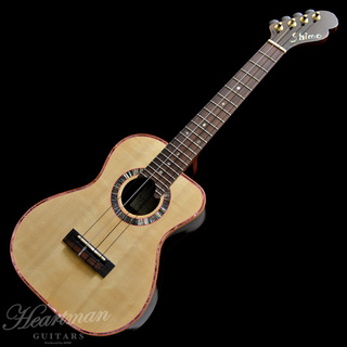 "Shimo Guitars Terry Tenor ""Bear Claw Italian Alpine Spruce/Curly Jacaranda"""