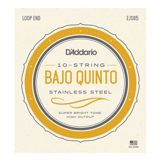 D'Addario EJS85 Bajo Quinto Stainless Steel set strings バホキント弦 10弦セット