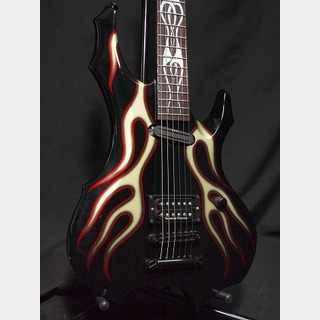ESP GL-F BARITONE Black with Custom Flame Graphic
