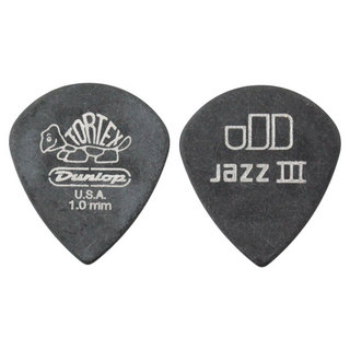 Jim Dunlop482 Tortex Pitch Black Jazz III 1.0mm ギターピック×36枚