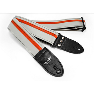 Couch Guitar Straps Vinyl Racer X Guitar Strap White with Orange