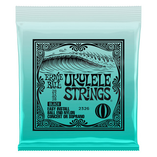 ERNIE BALL 2326 Ukulele Black Nylon Strings×3set Ball-end ボールエンドタイプ ウクレレ弦