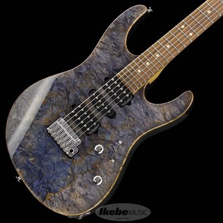 "Suhr(正規輸入品) IKEBE 45th Anniversary Modern Plus ""Burl Maple"" (Trans Blue Denim/Slate/Pau Ferro) [SN.JS2M7P]"