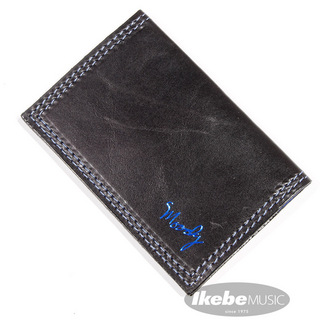 moody Leather Wallet [Black/Blue]
