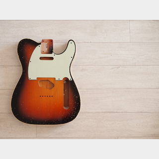 "MJT Double Bound ""Custom"" Telecaster Body - 3-Tone Sunburst - Medium Relic"