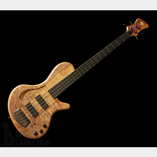 Adamovic Hollow 33 4st Fretless (Figured Walnut Top) 2020NAMM 【USED】