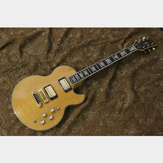 "Gibson 1980 L-5S ""Blond Finish with Flame Body"""