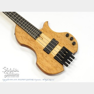 Charo's CH-B4 Compact Headless Bass (Birdseye Maple & Mahogany)