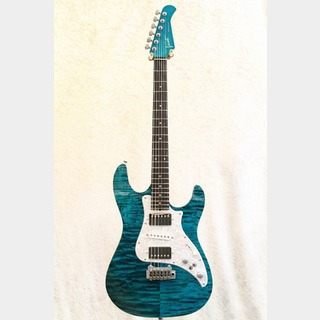 VaritaCustom Guitar Japan Soltar Standard 5053 Quilt Top / Emerald Blue★展示品特価★