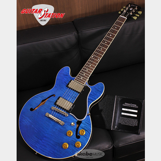 Gibson Custom Shop  IKEBE Order CS-336 Selected Figured Top Trans Blue