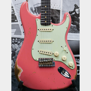 Fender Custom Shop Guitar Planet Exclusive 1959 Stratocaster Heavy Relic -Faded Fiesta Red-
