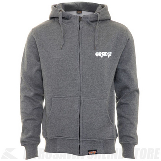 ORANGE Grey Hoodie with Crest and Logo Small (MC-HOODIE-S)