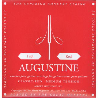 AUGUSTINE Classic Red Regular Trebles Medium Tension Basses 28-42.5【WEBSHOP】